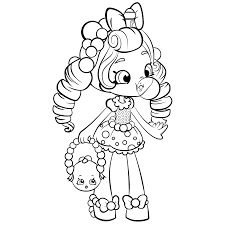 Small Picture Shopkins Shoppies Doll Coloring Pages for Girls Get Coloring Pages
