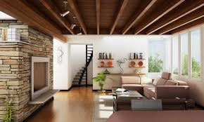 Brilliant Contemporary Style Interior Design With Fancy Living Room Large  Windows