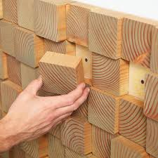 wood blocks for a unique wall treatment