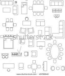 floor plan furniture vector. Free Floor Plan Furniture Symbols Vector