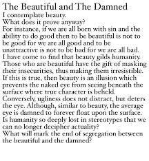 Beautiful And The Damned Quotes Best of The Beautiful And The Damned Poetry Philosophy Quote Makes Me