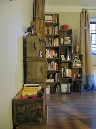 wooden crate shelves