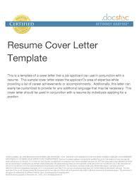 Resume Letter Sample Format