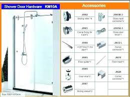 glass shower door seal kit repair doors kitsap sliding hardware bathrooms licious co slidin