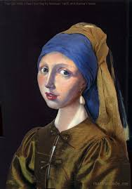 marina s muse of girl with a pearl earring set in vermeer s painting of that