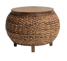 enchanting round wicker ottoman coffee table indoor stunning rattan intended for 18