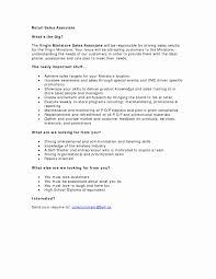 Sample Resume Retail Sales Associate No Experience Inspirational