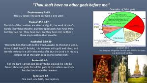 all other gods they are the works of man ten commandments