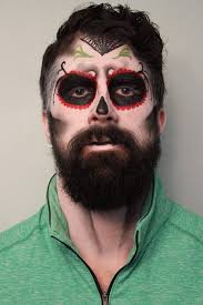 how to do skeleton makeup on a guy with a beard google search