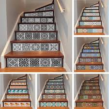 Stairway Wallpaper Design Us 14 78 34 Off Yazi 6pcs Removable Step Self Adhesive Stairs Sticker Ceramic Tiles Pvc Stair Wallpaper Decal Vinyl Stairway Decor 18x100cm In Wall