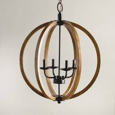 vineyard distressed mahogany and bronze 4 light orb chandelier inside wood orb chandelier