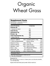 Wheatgrass Nutrition Chart All The Wheat Grass Nutrition Miami Wakeboard Cable Complex