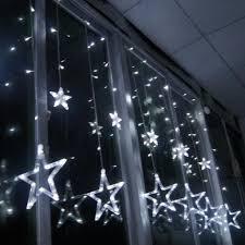 Led Lichterkette 12 Stern Lichtervorhang Fenster Real
