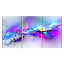 colorful wall art 3 pieces wall pictures for living room abstract canvas painting clouds colorful canvas