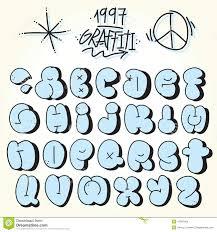 Bubble Letters Font Graffiti Bubble Vector Font Stock Vector Illustration Of Culture