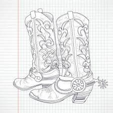 Cowboy Boots And Cowboy Hat Drawing Hd Shoe Clip Art Fashions