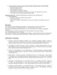 Vlsi Resume Format Resume Format Operator Resume Resume Format For ...