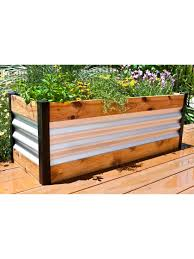 Corrugated Metal And Wood Raised Bed Garden Beds Gardeners Com