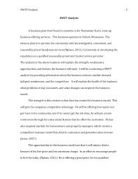 Apa Style Business Plan Template Business Plan Swot Analysis