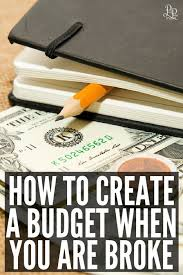 Image result for creating a budget even if your broke