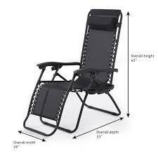 Patio Recliner Chairs 2pc Zero Gravity Chairs Lounge Patio Folding Recliner Outdoor