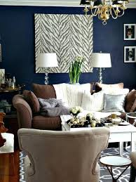 blue walls brown furniture. Blue Wall Brown Furniture Dark Walls Leather Couch They Are Showing Pics On How To H