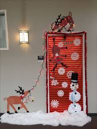 christmas office door decorating. contemporary christmas our christmas door decoration  first place made snowman with dixie cups  reindeer from construction paper snow sewing fluff inside office door decorating