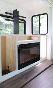 Cabinet Installation Company Installing A Tv Lift And Electric Fireplace In Rv
