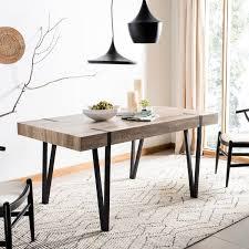 Shop Safavieh Alyssa Brown Rustic Mid-Century Dining Table ...