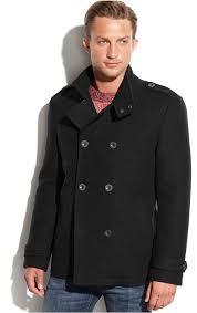 kenneth cole modern wool blend military pea coat
