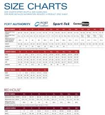 Port Authority Fleece Jacket Size Chart Port Authority Size Chart True To Size Apparel