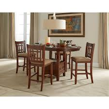 5 piece dark counter height dining set mission