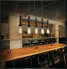 Industrial Style Light Fixtures Industrial Style Dining Room