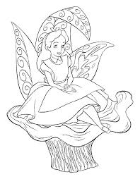 16 Coloring Pages Of Alice In Wonderland