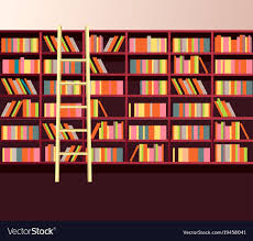 Image Images Library Bookshelves Wall Vector Image Amazon Uk Library Bookshelves Wall Royalty Free Vector Image