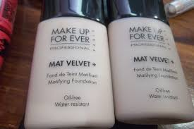 review makeup forever mat velvet matifying foundation