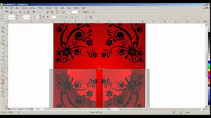 How To Design Birthday Card In Coreldraw How To Create Greeting Card Design In Coreldraw X5 Tamil Part 1