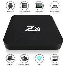 Z28 Smart TV Box 4K Android 7.1 Rockchip RK3328 1GB 8GB - Black -  JakartaNotebook.com