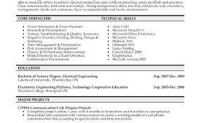 Sample Electrical Engineering Resume Electrical Engineer Resume