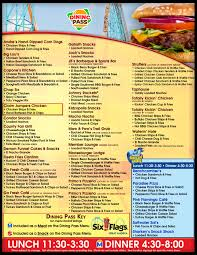 six flags food 2019 six flags great america season dining pass menu album