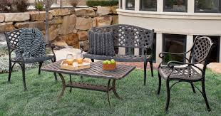 aluminum patio chairs. For A Limited Time Only, Head On Over To Jane.com Where You Can Score This  Walker Edison Furniture Company 4-Piece Cast Aluminum Patio Conversation Set For Aluminum Patio Chairs
