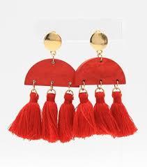 clove tassel fringe earrings