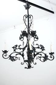 gothic style chandelier french century iron fireside antiques chandeliers for