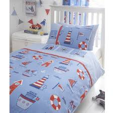 boat yard ship lighthouse embroidered double bed duvet cover quilt bedding set co uk kitchen home