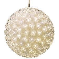 Super Sphere Lights Ge 11 2 In Hanging Super Sphere Light Display With Twinkling Warm White Led Lights