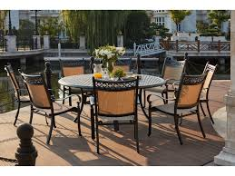 darlee outdoor living standard mountain view cast aluminum 9 piece dining set with 71 inch