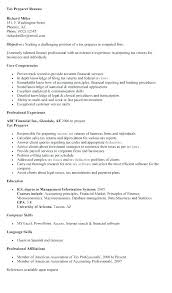 Tax Preparer Resume Samples 17 Tax Preparer Resume Sample