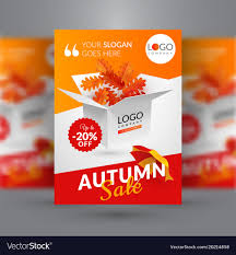 Autumn Sale Flyer Template With Box