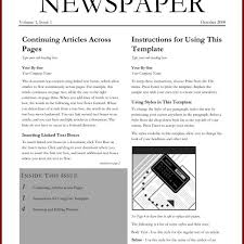 Newspaper Article Template For Pages Create Newspaper Article Template Selo Yogawithjo Co Intended For