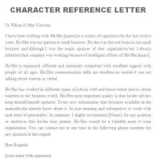 Character Reference Letter Template Picture Dreamy For Coworker ...